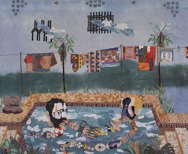 Criollos en la piscina