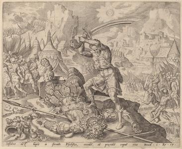 David Cutting Off Goliath's Head