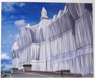 """Wrapped Reichstag"" Project, SIGNED, Offset Color Lithographic Poster LARGE"