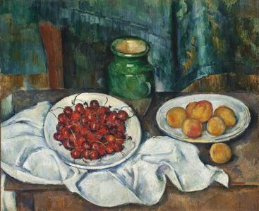 Still Life with Cherries and Peaches