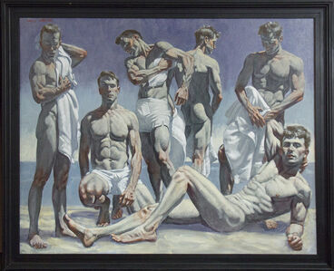 [Bruce Sargeant (1898-1938)] Group of Men on the Beach