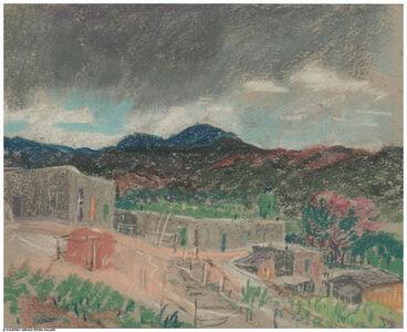 Untitled (Dark Clouds over Hillside Village)