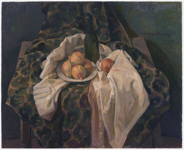 Still Life with Onions and White Drape