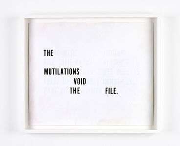 Redaction Variations (The Tehran Times) - THE MUTILATIONS VOID THE FILE