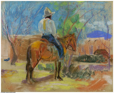 Back View, Indian on a Horse