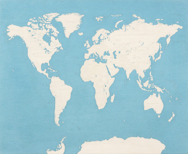 Map of the World (Dedicated to Unknown Embroiderers)