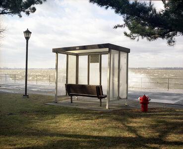 Bus Stop with Sea Spray, Governor's Island, NY