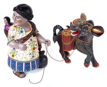 Tehuana Embarazada Woodcarving Mexican Folk Art Sculpture
