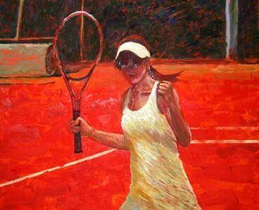 Ola on a tennis court II