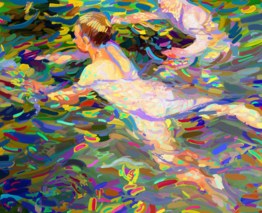 Sorolla as a pretext - Swimmers, Javea No. 1