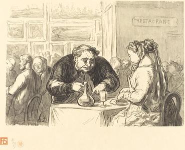 Au buffet de l'Exposition des Beaux-Arts