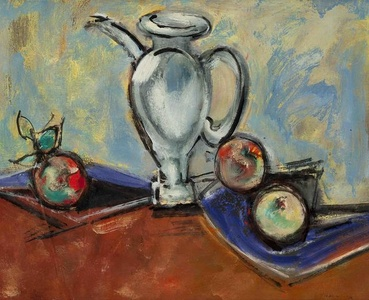 Sill Life with Pitcher and Fruit