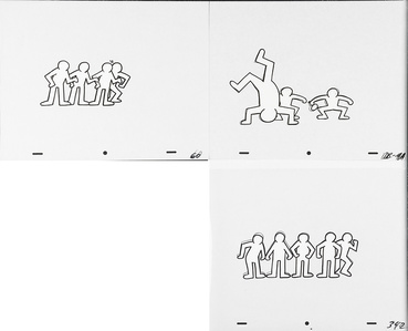 Keith Haring Sesame Street Breakdancers Animation Cell