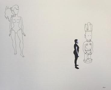 Untitled with Yoruba Figure