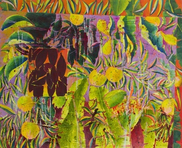 Sunspilt (Indigo Banana leaf Version)