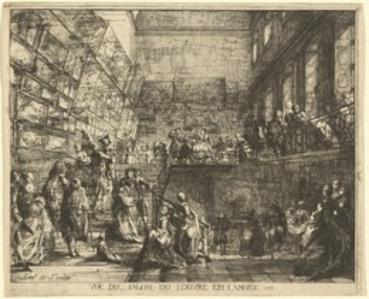 Vue du Salon du Louvre en l'annee 1753