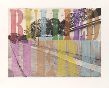 Suburban Landscape No. 3. 'Bullied Here'