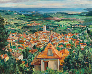 Panorama of Grasse, France