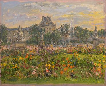 Centaur, Fountain and Green Lawn in Tuileries Garden