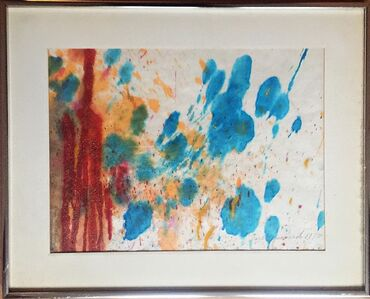 Untitled Abstract Expressionist Mixed Media Painting on Paper