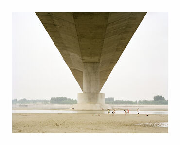 A Family Spending the Weekend Under a Bridge, Shandong, China