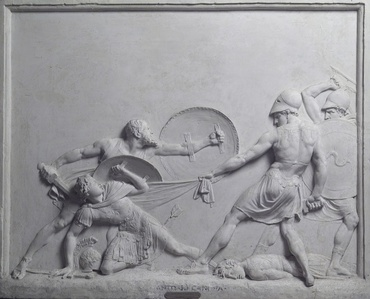 Socrates Rescues Alcibiades at the Battle of Potidaea