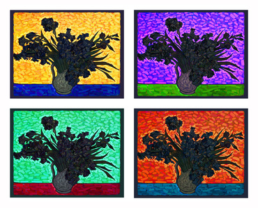 Van Gogh as a pretext - Irises (Grouo No 1, 2 3 & 4)