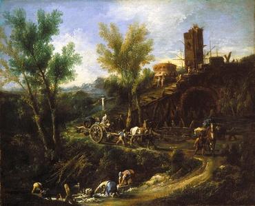 Landscape with Gypsies and Washerwomen