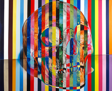"""31 Stripe Color Skull"""