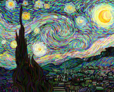 Van Gogh as a pretext - The Starry Night No. 2
