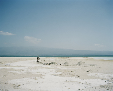Lake Assal, extraction of salt Djibouti