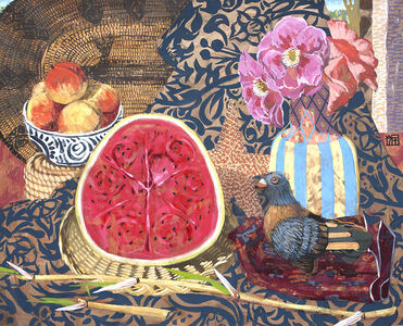 Still-life with Pigeon and Watermelon