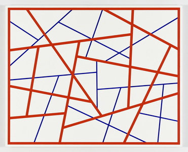 Straight Lines #22 (red-blue)