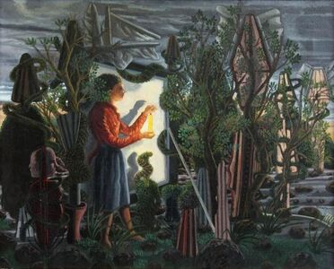 Woman Holding Candle in the Jungle