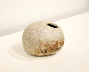 Lighter Sliced Stoneware Vessel