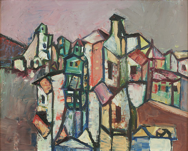 Untitled (Cubist Landscape)