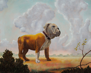 Landscape with Bull Dog
