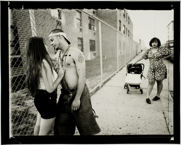 Anthony Hitting on Giselle, Vivien Waiting, Lorimer Street, Williamsburg, Brooklyn
