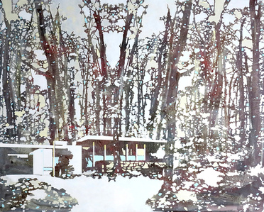 Red & White Forest (landscape)