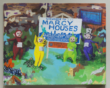 Teletubbies bring joy to the Marcy Projects