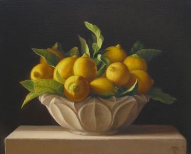Lemons in a Marble Bowl