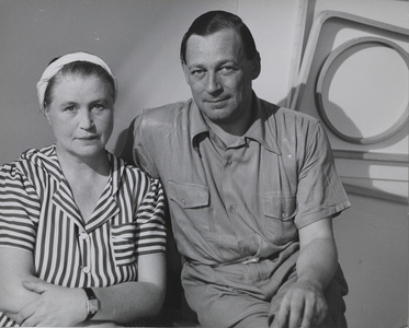 Aino Marsio‐Aalto and Alvar Aalto in the Artek‐Pascoe showroom, New York
