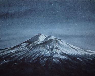 Mt Shasta in Moonlight
