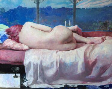Sleeper (Nude in Future Landscape)