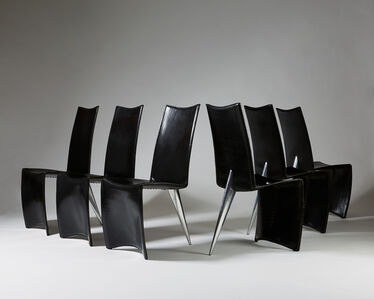 Set of six chairs 'J Serie Lang'
