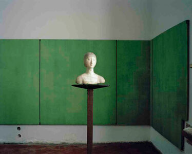 Carlo Scarpa, Palazzo Abatellis, Room with Bust of a Gentlewoman, Palermo Italy