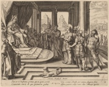Saint Stephen before the Council