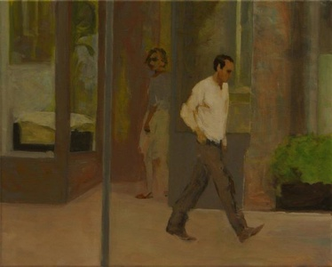 Untitled (Mann und Frau vor Schaufenster)