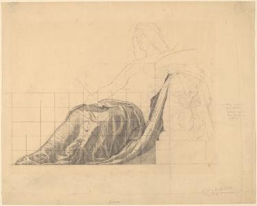 "Drapery Study for Reclining Female Study for ""Painting"""