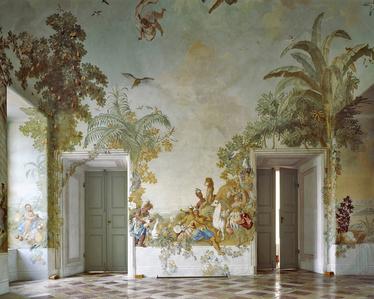 Gartenpavillon Stift Melk, AT, Fresko von Johann Wenzel Bergl, Nr. 1